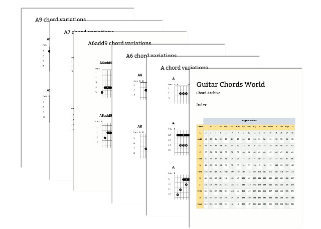 Chord Archive - Guitar Chords World